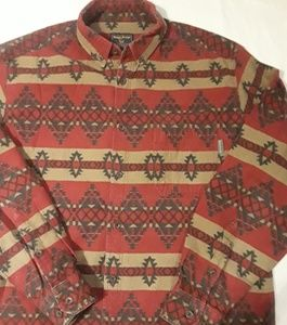 Woolrich Aztec Print XL Flannel Button Down Shirt